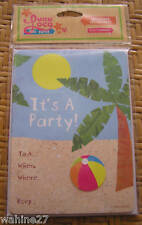LUAU LOCO Luau or Beach Party Invitations - Set of 10