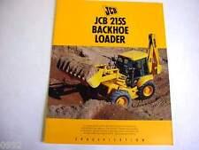 JCB 215S Tractor Loader Backhoe 8 Pages,1991 Brochure         #