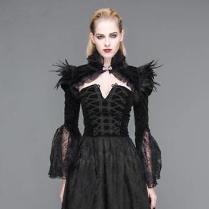 Devil Fashion Gothic Goth Burlesque Steampunk Cosplay Vintage Shrug Bolero Jacke