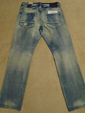 PRPS BARRACUDA Straight Distressed Jeans Mens 40 x 33 Orig. $275+ Light Wash
