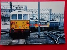 PHOTO  TRIO OF LOCO AT CREWE SHEDS 21/2/88