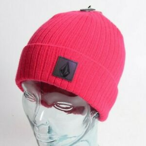 2021 NWT VOLCOM NEONS BEANIE $26 OS Magenta roll over classic fit