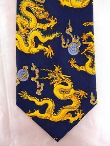Krawatte von KAILONG, Grundfarbe Blau, 100% Seide