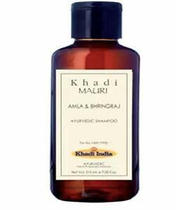 Khadi Mauri Herbals Amla and Bhringraj Herbal Shampoo -210ml