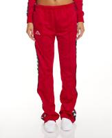 Kappa Women's 222 Banda Wastoria Snaps Pants, Red/Black