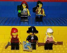 5 Lego Piraten Figuren mit Zubehör. Minifig Imperial Pirates Insel 2