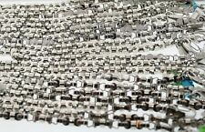 20 WHOLESALE LOT OF  Black & Blue 8mm Stainless Machine Parts Chain Bracelet