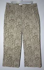 CHRISTOPHER BANKS Stretch Size 8 FLORAL Cropped CAPRIS Womens