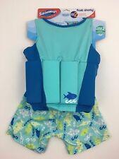 Boy Float Shorty Flotation Suit Swim Step 2 SwimWays Sz Medium/Large Ages 3-4