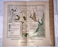 Original 1899 Northern Great Plains Region Deep Underground Waters Map Ship Free