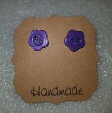 Small Flower Stud Earrings - Handmade