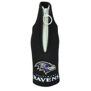 NFL Baltimore Ravens Zipper Coozies Bottle Drink Coolers Beer Slip Coolies Hugg