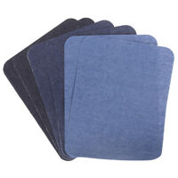6X Assorted Cotton Jeans Repair Kit 3Color Iron On Denim Patch Sewing AppliSPTEU