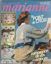 Les idées de Marianne N°21 août 1996 point de croix , tricot, couture