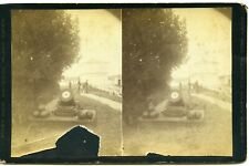 Stereoview Fort Mackinac Mortar and Soldiers Mackinac Island Mi By Foley