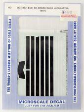 HO Microscale #MC-4232 EMD SD-90MAC Demo Locomotives Decal Set (1997+)