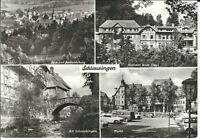 "Ansichtskarte Schleusingen ""Kurheim Hilde Coppi, Markt, Bertholdsburg"" - s/w"