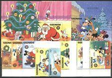 Walt Disney, Weihnachten - Grenada - 1508-1515, Bl.165-166 ** MNH 1986
