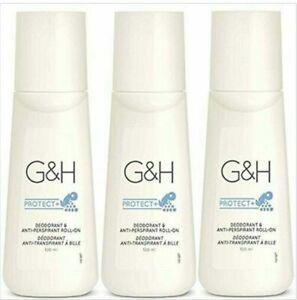 3 pcs X Amway G&H protect+ Deodorant & Anti-Perspirant Roll-On 100 ml