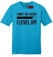 I Don't Get Older I Level Up Funny Mens Soft T Shirt Cute Father Gamer Gift Z2