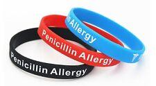 1 x Penicillin Allergy Medical Alert Silicone Wrist Band Bracelet UK SELLER