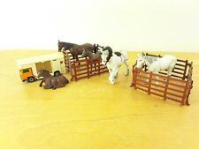 Vintage 1970's BRITAINS Horse bundle Farm Animals toys Fence Match Box Van Shy