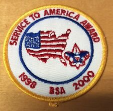 BOY SCOUTS SERVICE TO AMERICA AWARD 1998-2000  PATCH  NEW