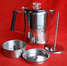 CABELA'S Stainless Steel Stovetop ~ 9 Cup COFFEE POT Percolator