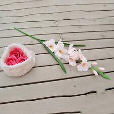 "Lifelike Gladiolus Flowers Plants 31"" for Xmas Home Cafe Club Light Pink"