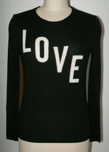 Women's Zadig & Voltaire Sweater Size Small Black Love Gwendal St Valentin Wool