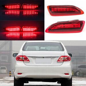 LED Rear Bumper Reflector Brake Lights For Toyota Corolla Lexus 2011 2012 2013