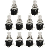 10 X 6Pins DPDT Momentary Stomp Foot Switch for Guitar AC 250V/2A 125V/4A