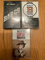 Bad Company 3 OG Cassette LOT - self-titled - Fame And Fortune - Dangerous Age