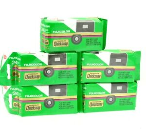 5 x FUJI Fujifilm QuickSnap disposable Single Use Camera 24 Exp Out of Date