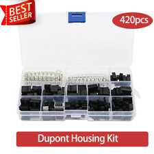 420x 2.54mm Dupont Housing Connectors Pin Header Male Female Crimp Pins Kit New