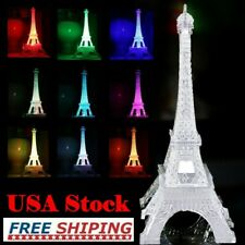 3Pcs Romantic Eiffel Tower Led Night Light Lamp Desk Table Bedroom Decorate Xi