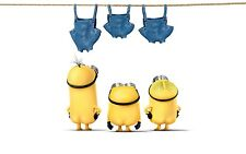 FUNNY YELLOW MINIONS CHILDREN KIDS MOVIE WALL ART CANVAS PICTURE PRINT 20X30INCH