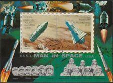 Yemen A.R. 1969 used Bl.104 Weltraum Space Astronauten Astronauts Gagarin Rakete