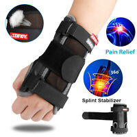 Wrist Support Hand Brace Carpal Tunnel Splint Arthritis Protector Sprain Pain US