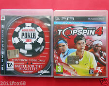 videogiochi playstation 3 world series of poker topspin 4 video games ps3 ps 3 z