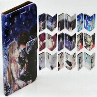 For LG Series - Anime Manga Print Theme Wallet Mobile Phone Case Cover