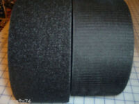 4 inch wide Hook and Loop Fastener SEW ON Quality sold by the yard no glue BLACK
