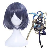 Japanese Game SINoALICE Alice Women's Short Blue Heat Resistant Cosplay Full Wig