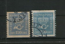 SWEDEN-TWO USED-STAMPS-Mi.No.135 - 1920/1921.