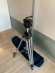 Bogen Manfrotto 3068 Heavy Duty Tripod & 3433 501 Pro Video Head