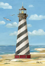 """""""Cape Hatteras Lighthouse"""" (12.5"""" x 18"""") Garden Flag by Toland"""