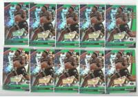 x10 ANTHONY EDWARDS 2020-21 Prizm Draft ALL GREEN REFRACTOR #1 Rookie Card lot!!