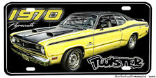 1970 Plymouth 340 Duster Twister Design Aluminum License Plate