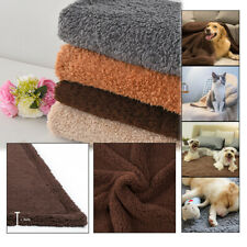All Size Pet Cat Dog Puppy Warm Blanket Cotton Wool Soft Bed Mat Washable  R !