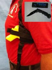 Shoulder Gun Holster Left Hand Draw Glock 26 W/ Free Folding Knife 201L